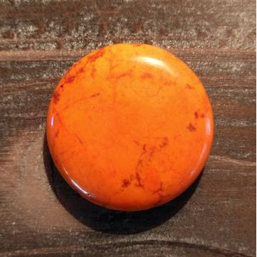 GM-0429  - Magnesite 40mm Gemstone Pendant,Burnt Orange | Pkg 1