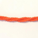 CC-011 - Chinese Crystal 2x3mm Rondelle Beads Opaque Pumpkin | 1 Strand