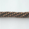GM-544 - 4mm Faceted Hematite Gemstone Beads, Matte Chocolate | Pkg 1 Strand