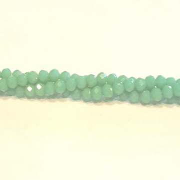 CC-038 - Chinese Crystal 3x4mm Rondelle Beads, Opaque Green Turquoise | 1 Strand