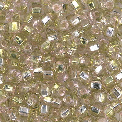6S-3279 - 6/0 Sq Hole Rococo S/L Pink Chartreuse Miyuki Seed Bead | 25 Grams