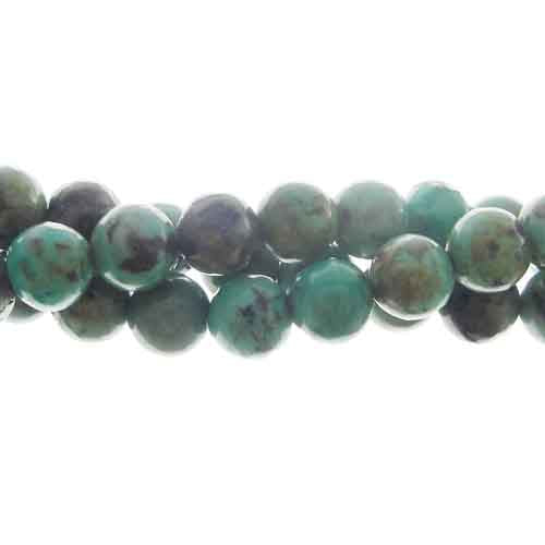 "GM-0115 - 6mm African Turquoise Gemstone Beads | 16"" Strand"