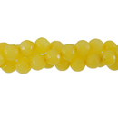 "GM-0089 - 6mm Faceted Jade Gemstone Bead Strand, Golden Yellow | 16"" Str"