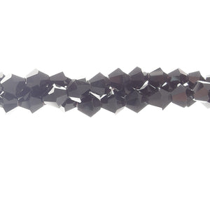 CCBI-019 - Chinese Crystal 6mm Bicone Beads, Jet | 1 Strand