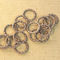 AB-0184 - Antique Copper Pewter 14mm Rings | Pkg 25