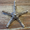 AB-1039 - Antique Silver Starfish Pendant,58mm | Pkg 1