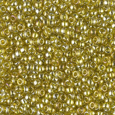 8-1889 - 8/0 Transparent Golden Olive Luster (Like DB 124) Miyuki Seed Bead | 25 Grams