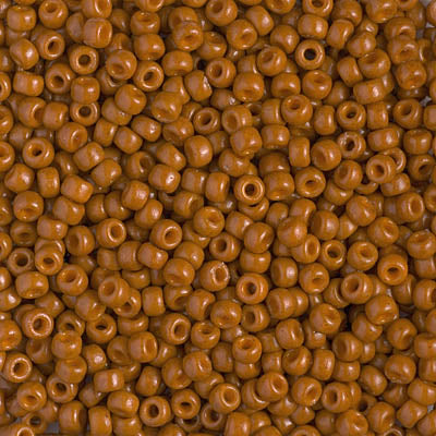 8-4458 - 8/0 Miyuki Duracoat Seed Beads, Opaque Dyed Red Brown | 25 Grams