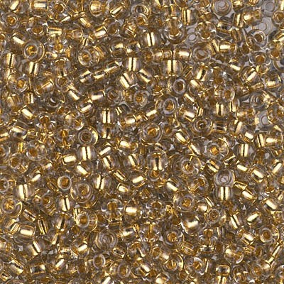 8-955 - 8/0 24kt Gold Lined Pale Gray Miyuki Seed Bead | 25 Grams