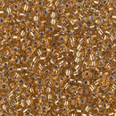 8-971 - 8/0 Copper Lined Pale Amber (Like DB0181) Miyuki Seed Bead | 25 Grams