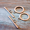 AB-1021 - Antique Copper Simple Toggle Clasp,22mm | Pkg 2 Sets