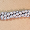 CCR-427 - Chinese Crystal 6mm Round Beads,Matte Silver | 1 Strand
