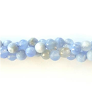 GM-508 - 6mm Faceted Agate Gemstone Beads, Antique Cornflower Blue | Pkg 1 Strand