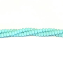 CC-002 - Chinese Crystal 2x3mm Rondelle Beads, Opaque Turquoise, | 1 Strand