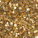 8C-191 - 8/0 Cut 24kt Gold Plated (Like DB 31) Miyuki Seed Bead | 25 Grams