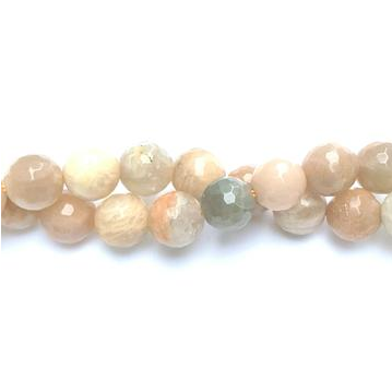 "GM-0235 - Pink Moonstone Faceted 8mm Gemstone Bead Strand | 16"" Strand"