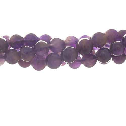 GM-0003 - Amethyst 8mm Gemstone Bead Strand  | 1 Strand