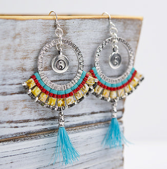 PDF-276 - Tila Mosaic Earrings by TierraCast