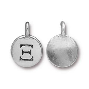 94-2484-12 - Pewter Charm,Xi, Silver Plate | Pkg 2