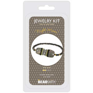 BDKIT16 - Bracelet Bead Kit, Night Moon, Stretch | Pkg 1