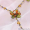 BFK072 - Miyuki Necklace Kit, Orange Flower Necklace | Pkg 1