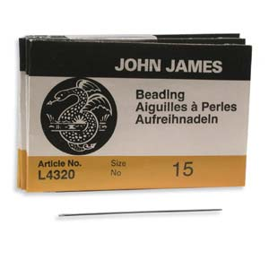 BN15 - English Beading Needles # 15 | Pkg 25