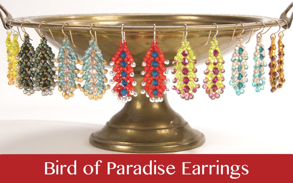 #PDF-524 - Bird of Paradise Earrings