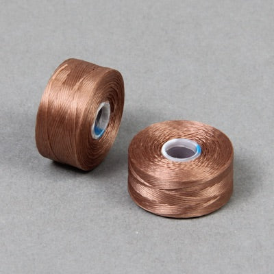 CLBAA-LBR - C-LON  Light Brown Size AA 1 Bobbin (approx 75 yds per bobbin)