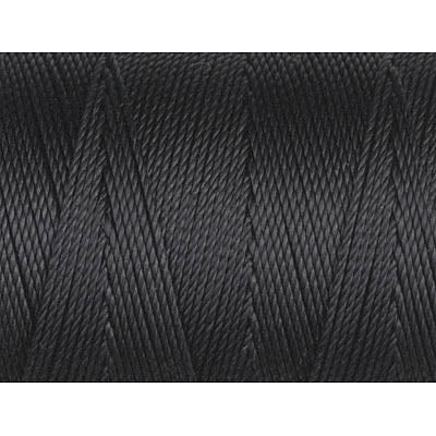 CLC.135-BK - C-LON Fine Weight Bead Cord, Black | 50 Yard Bobbin
