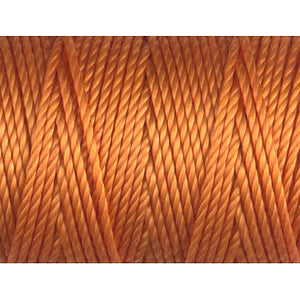CLC.400-PSO - C-LON Tex 400 Bead Cord Popsicle Orange (approx 39 yds per bobbin)