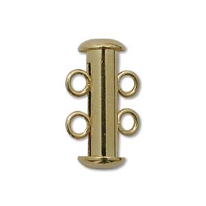 JW7000/2G - 2 Strand Gold Plated Slide Lock Clasp | Pkg 1