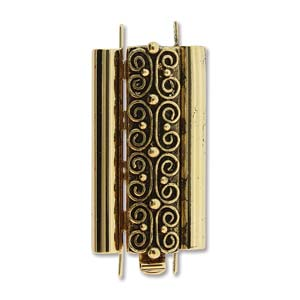 CLSP219AG-30 - Beadslide Squiggle Design 10mm X 24mm Antique Gold | Pkg 1