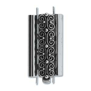 CLSP219AS-30 - Beadslide Squiggle Design 10mm X 24mm Antique Silver | Pkg 1
