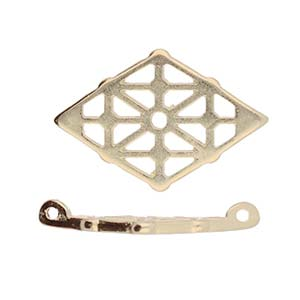 Cymbals, Clima-Gemduo Connector , Ant. Brass Plate | Pkg 2