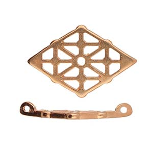 Cymbals, Clima-Gemduo Connector , Rose Gold Plate | Pkg 2