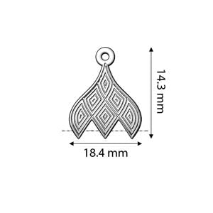 Cymbals, Tourlos Iii-Gemduo Bead End , Ant. Silver Plate | Pkg 2