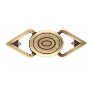 Cymbals, Gyalos-Gemduo Magnetic Clasp , Ant. Brass Plate | Pkg 1