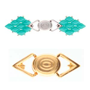 Cymbals, Gyalos-Gemduo Magnetic Clasp , 24K Gold Plate | Pkg 1
