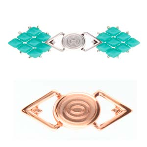 Cymbals, Gyalos-Gemduo Magnetic Clasp , Rose Gold Plate | Pkg 1