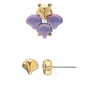 Cymbals, Limani-Ginko Earring , 24K Gold Plate | Pkg 2