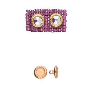 CYM-M11-012213-RG - Loutro-11/0 Bead Substitute, Rose Gold Plate |  Pkg 2