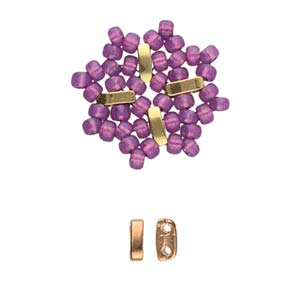 CYM-M80-012229-RG - Vai-8/0 Bead Substitute, Rose Gold Plate |  Pkg 6