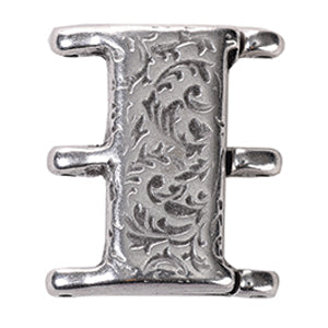 CYM-M80-012825-SP - Nisida Iii-8/0 Magnetic Clasp, Ant. Silver Plate |  Pkg 1
