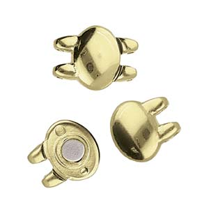 Cymbals, Kypri-Superduo Magnetic Clasp , Ant. Brass Plate | Pkg 1