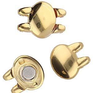 Cymbals, Kypri-Superduo Magnetic Clasp , 24K Gold Plate | Pkg 1