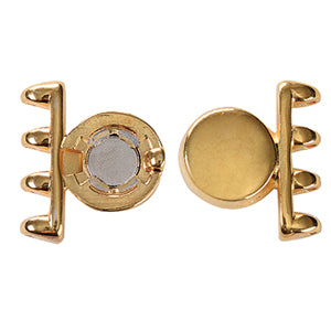 Cymbals, Ateni-Superduo Magnetic Clasp , Rose Gold Plate | Pkg 1