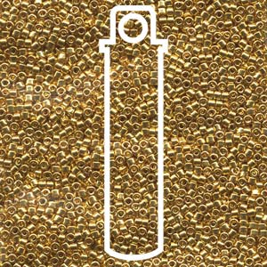 DB031-TB - 11/0 Delica Beads Gold 24K Plated | 7.2g Tube