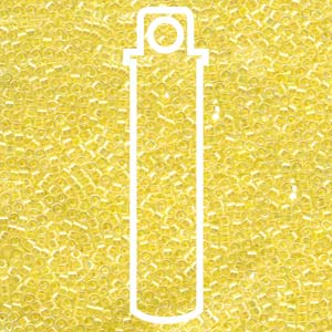 DB053-TB - 11/0 Delica Beads Lined Pale Yellow | 7.2g Tube