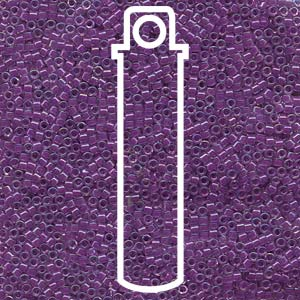 DB073-TB - 11/0 Delica Beads Lined Lilac AB | 7.2g Tube