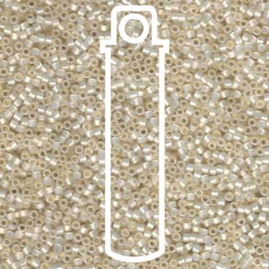 DB1451-TB - 11/0 Delica Beads Silver Lined Pale Cream Opal | 7.2g Tube